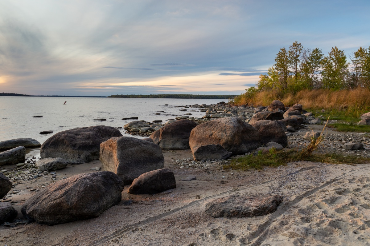 The beach at Lake Winnipeg
